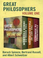 Great Philosophers Volume One