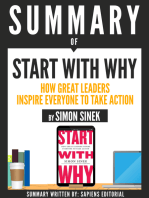 """Summary Of """"Start With Why"""