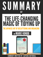"Summary Of ""The Life-Changing Magic Of Tidying Up"