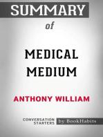 Summary of Medical Medium by Anthony William | Conversation Starters