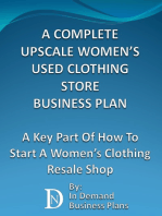A Complete Upscale Women's Used Clothing Store Business Plan