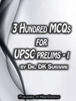 3 Hundred MCQs for UPSC Prelims: I