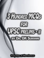 3 Hundred MCQs for UPSC Prelims