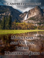 Mountains and Valleys in the Ministry of Jesus