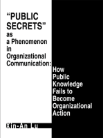 Public Secrets as a Phenomenon in Organizational Communication