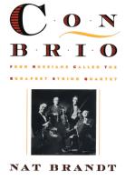 Con Brio: Four Russians Called the Budapest String Quartet
