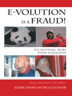 E-Volution Is a Fraud, It's Nothing More Than a Religion