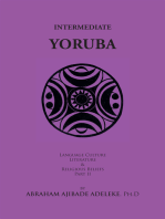 Intermediate Yoruba: Language, Culture, Literature, and Religious Beliefs, Part Ii