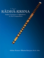 Radha-Krsna: English Translation of Ýradhakrsnaý by Sunil Gangopadhyay