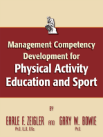 Management Competency for Physical Activity Education and Sport