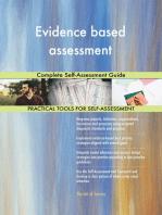 Evidence based assessment Complete Self-Assessment Guide