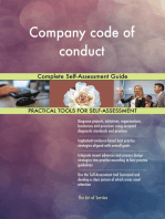 Company code of conduct Complete Self-Assessment Guide