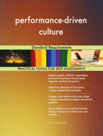 performance-driven culture Standard Requirements