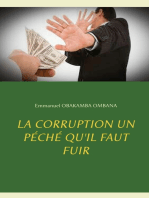 La corruption un péché qu'il faut fuir