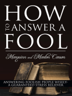 How to Answer a Fool
