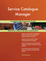 Service Catalogue Manager Complete Self-Assessment Guide