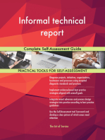 Informal technical report Complete Self-Assessment Guide