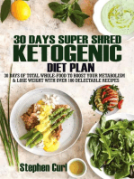 30 Days Super Shred Ketogenic Diet Plan