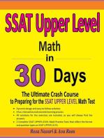 SSAT UPPER LEVEL Math in 30 Days