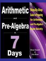 Arithmetic and Pre-Algebra in 7 Days