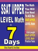 SSAT UPPER LEVEL Math in 7 Days