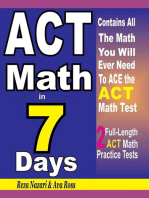 ACT Math in 7 Days