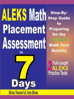 ALEKS Math Placement Assessment in 7 Days