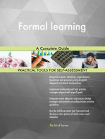 Formal learning A Complete Guide
