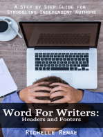 Word for Writers