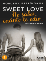 No sabes cuánto te odio... Serie Sweet love 3