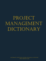 Project Management Dictionary