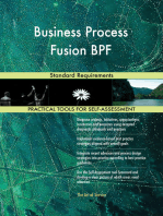 Business Process Fusion BPF Standard Requirements
