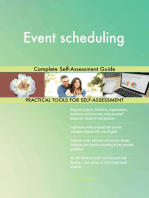 Event scheduling Complete Self-Assessment Guide