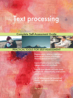 Text processing Complete Self-Assessment Guide