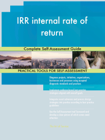 IRR internal rate of return Complete Self-Assessment Guide