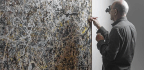A Jackson Pollock Painting Gets A Touch-Up — And The Public's Invited To Watch