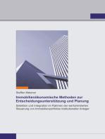Immobilienökonomische Methoden zur Entscheidungsunterstützung und Planung