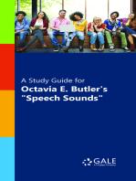 """A Study Guide for Octavia Butler's """"Speech Sounds"""""""