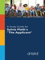 "A Study Guide for Sylvia Plath's ""The Applicant"""