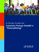 """A Study Guide for Lawson Fusao Inada's """"Everything"""""""