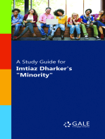 "A Study Guide for Imtiaz Dharker's ""Minority"""