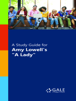 """A Study Guide for Amy Lowell's """"A Lady"""""""