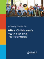 "A Study Guide for Alice Childress's ""Wine in the Wilderness"""