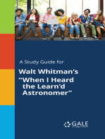 "A Study Guide for Walt Whitman's ""When I Heard the Learn'd Astronomer"""