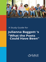 """A Study Guide for Julianna Baggott 's """"What the Poets Could Have Been"""""""