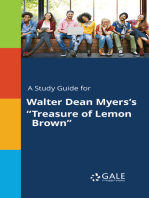 """A Study Guide for Walter Dean Myers's """"Treasure of Lemon Brown"""""""