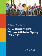 "A Study Guide for A. E. Housman's ""To an Athlete Dying Young"""