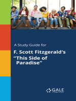"A Study Guide for F. Scott Fitzgerald's ""This Side of Paradise"""