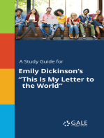 """A Study Guide for Emily Dickinson's """"This Is My Letter to the World"""""""