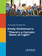 """A Study Guide for Emily Dickinson's """"There's a Certain Slant of Light"""""""